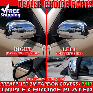 For 2006 2012 Toyota Rav4 Chrome Mirror Covers Trims W o Turn Signal Cutout