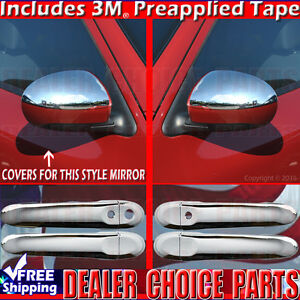 For 2009 2014 Nissan Cube Chrome Door Handle Covers W smrtkey half Mirror Trims