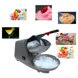 Electric Snow Cone Maker Ice Crusher Cold Drink Shaver Machine Shiping In Usa