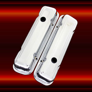 Chrome Valve Cover Set For Pontiac 326 350 400 428 400 455 Pontiac Engines