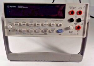 Hp Agilent 34401a 6 1 2 Digit Multimeter late Revision Unit W Updated Front