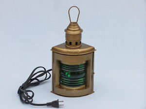 Antique Brass Port And Starboard Electric Lantern 12