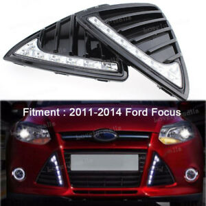 Front Bumper Grill Led Daytime Running Light For Ford Focus 2011 2012 2013 2014