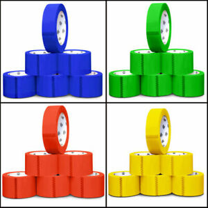 3 X 55 Yards 2 Mil Multi color Box Carton Sealing Packing Shipping Package Tape