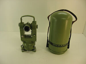Wild Leica Heerbrugg T2 mod Theodolite Transit For Surveying 1m Warranty
