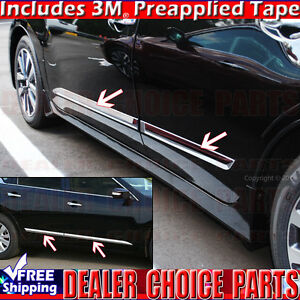 For 2013 2018 Nissan Altima Chrome Door Body Side Molding Oe Style Trim 4pcs