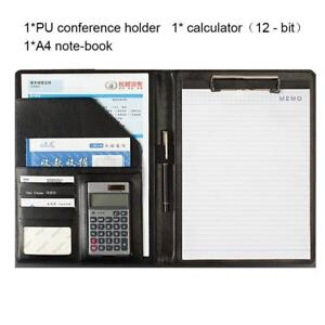 Ring Binder Portfolio With Calculator conference Folder File A4 New