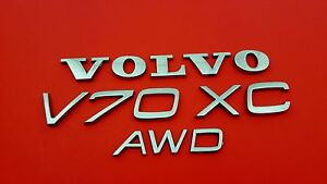 2002 Volvo V70 Xc Awd Rear Trunk Lid Chrome Oem Emblem Set Sign 01 02 03 04 05