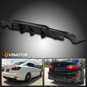 For 06 13 Lexus Is250 Is350 Isf Type V Rear Bumper Lower Lip Diffuser Splitter