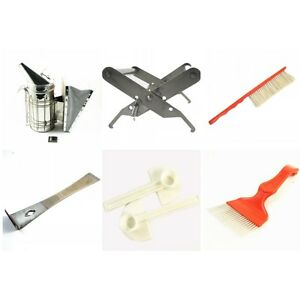 6x Kit Beekeeping Equipment Tool Bee Brush Catcher Fork Cage Queen Hive Tools