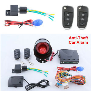 Car Alarm System W Remte Control Trunk Release Keyless Entry Central Door Lock