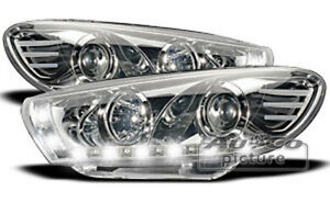 Headlights With Led Daytime Running Lights In Chrome For Vw Scirocco Iii 3