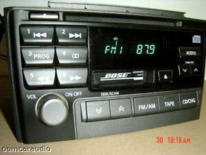 2000 2001 2002 2003 Nissan Maxima Bose Radio Cd Player 01 02 03 Steering Control