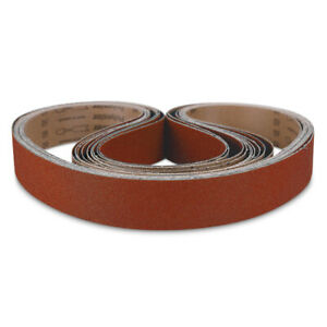2 X 72 Knife Maker Ceramic Sanding Belt Kit 36 40 60 80 120 Grit 10 Pack