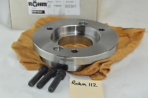 Rohm Lathe Chuck Back Plate A2 6 Spindle Adapter For Zsu 250 Hi tru 250mm 10