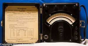 Westinghouse Pa 5 Precision Six Range Antique Ac Voltmeter