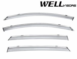 For 16 20 Kia Optima Wellvisors Chrome Trim Side Window Visors Rain Guards