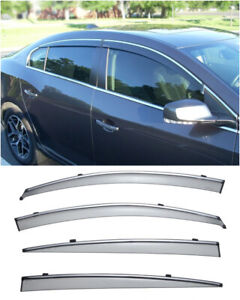 For 10 Up Buick Lacrosse Wellvisors Side Window Visors W Chrome Trim