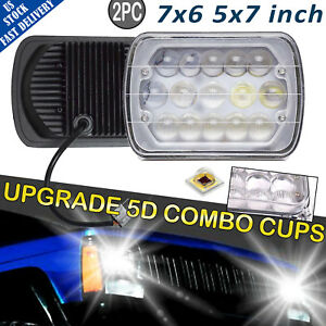 Upgrade Led Headlight Square Bulb Hi Low Sealed Beam For Chevy S10 Sonoma Truck