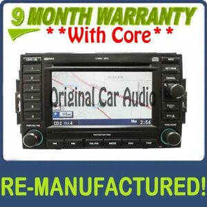 Refurbished Chrysler Dodge Jeep Navigation Radio 6 Cd Changer P05064184ad Rec