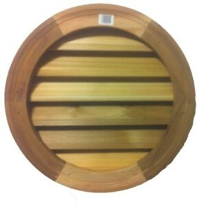 18in Wood Round Louver Vent Roofing Attic Ventilation Siding Vents Heating Cool