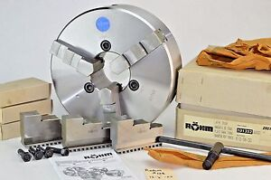 Rohm 3 Jaw Zs 315 3 12 1 2 Centering Manual Lathe Chuck Steel Set Spare Jaws