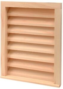 D A Mfg 18in X 24in Paintable Wood Rectangular Siding Vent Airflow Ventilation