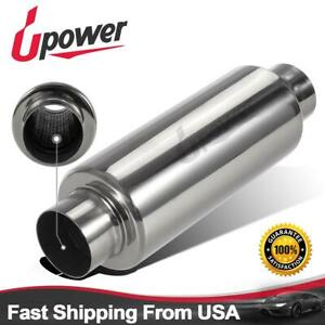 Upowet Exhaust Turbine Muffler Resonator 304 Stainless Steel 2 5 Id
