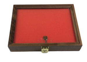 Walnut Wood Display Case 9 X 12 X 2 For Arrowheads Knives Collectibles Coins