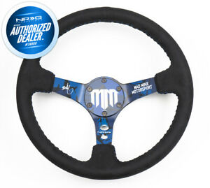 New Nrg Mad Mike Signature Steering Wheel Alcantara Blue Stitch Rst 020mb c mm