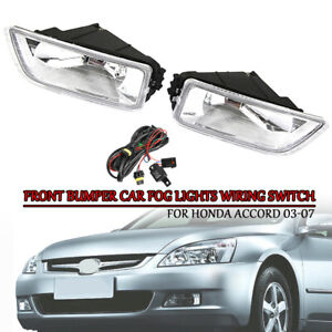For 03 07 Honda Accord 4dr Jdm Style Bumper Fog Light W Switch Reply Wiring