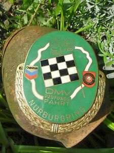 Rare Vintage German Nurburgring Race Flag Car Badge Chevron Cup 1969 Germany