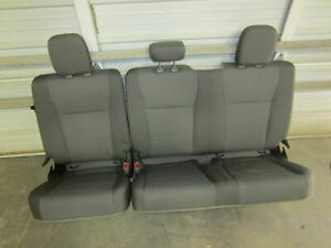 2017 Ford F 250 f 350 Super Duty Extended super Cab Gray Cloth Rear Bench Seat