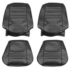 1967 Chevelle Ss396 Supersport Bucket Seat Covers Black Pui 67as10u In Stock