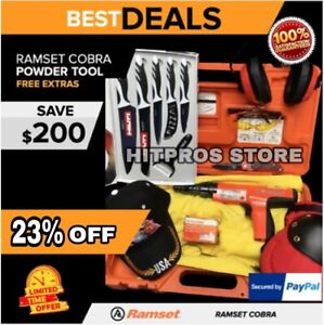 Ramset Cobra Semi Powder Actuated Toll Preowned Free Knife Set Fast Ship