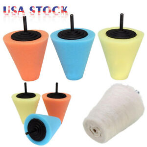 Burnishing Foam Sponge Polishing Cone Pads Wool Buffing Ball For Car Wheel Hub