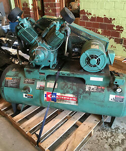 Champion Industrial Air Compressor Commercial 3 Phase Heavy Duty 120 Gallon