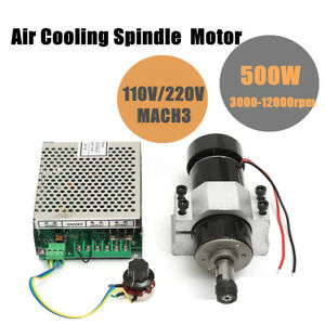 2018 Er11 500w Cnc Air Cooling Spindle Motor 52mm Holder Speed Controller