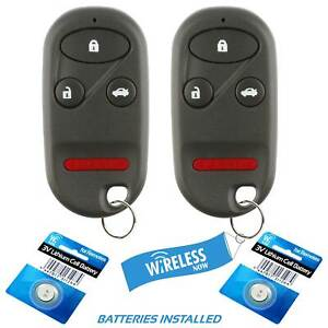 2 Car Key Fob Keyless Remote 4b For 1997 1998 1999 2000 2001 2002 Honda Accord