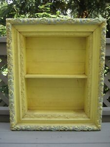 Antique Shadow Box 3 Tier Ornate Frame Wooden Shadowbox 27 25 H 23 W 5 5 D