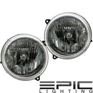 Left Right Sides Pair Head Lamps For 2003 2004 Jeep Liberty