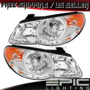 Halogen Headlights For 2007 2010 Hyundai Elantra Left Right Sides Pair