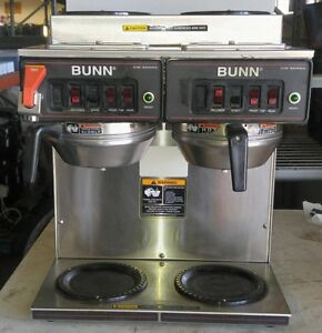 Bunn Cwtf 4 2 Twin Coffee Brewer 6 Warmers For 12 Cup Pots Great Condition