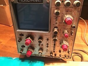 Telequipment D67 Oscilloscope With Manual