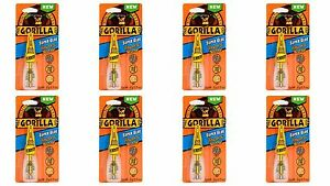 Gorilla 7500101 8 Super Glue Brush And Nozzle 8 Pack 10 G Clear