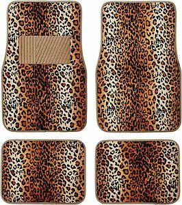 Car Mats For Teens Girls Truck Floor Cheetah Cute Accessories Interior Cool Rugs