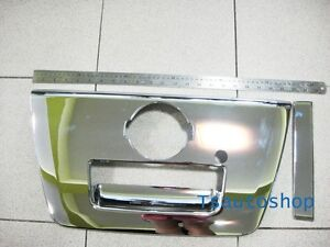 Chrome Key Hole Tailgate Handle Chrome Cover For Nissan Navara D40 2005 2013