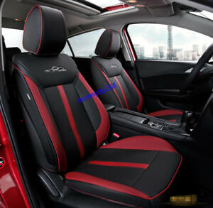 Leather Car Seat Covers Luxury Set Black Red For Mazda 3 Axela 2017