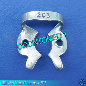 12 Endodontic Rubber Dam Clamp 203 Surgical Dental Instruments