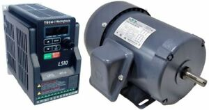 Motor Vfd Package 1 3 Hp 1800 Rpm Tefc Techtop Motor With 50 Hp 115v Teco Vfd